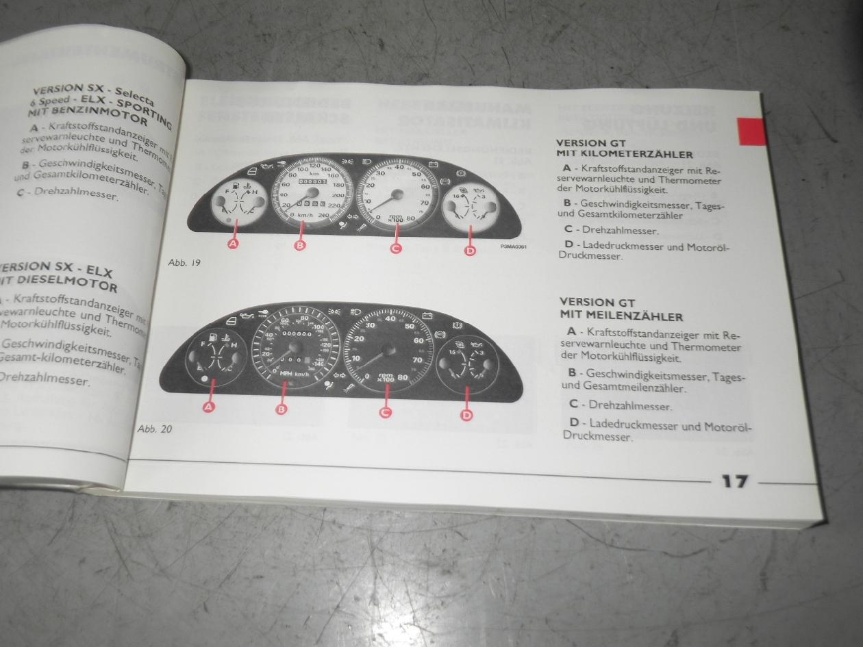 fiat punto 176 handbuch